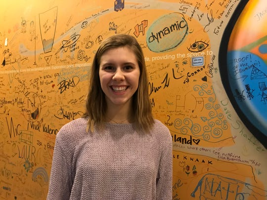 Maddie Green's Happiness Project looks to help community members find their inner happiness by using art.