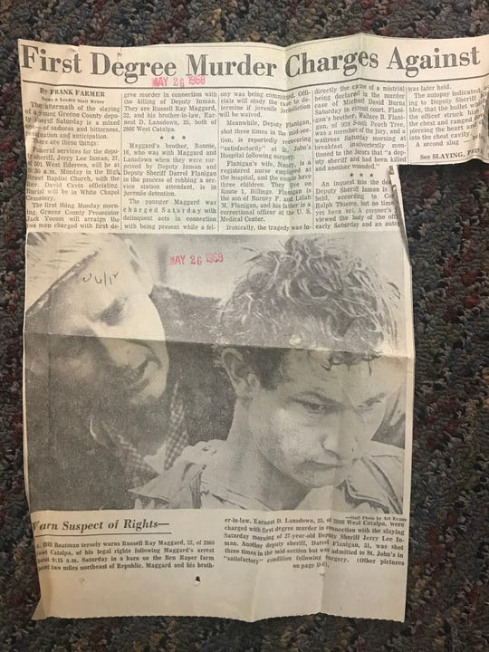 This article from 1968 is about the man who was convicted of killing Marty Pettit's partner, Jerry Inman.