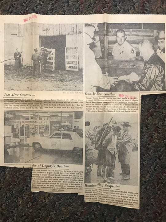 This News-Leader article from 1968 is about the man who was convicted of killing Marty Pettit's partner, Jerry Inman.