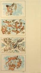 Roberto Matta, Prints for a Cuban Cigar Box, 1976, lithograph