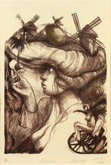 Daysi Carmona Pérez, El Huevo Dorado, 2001, lithograph