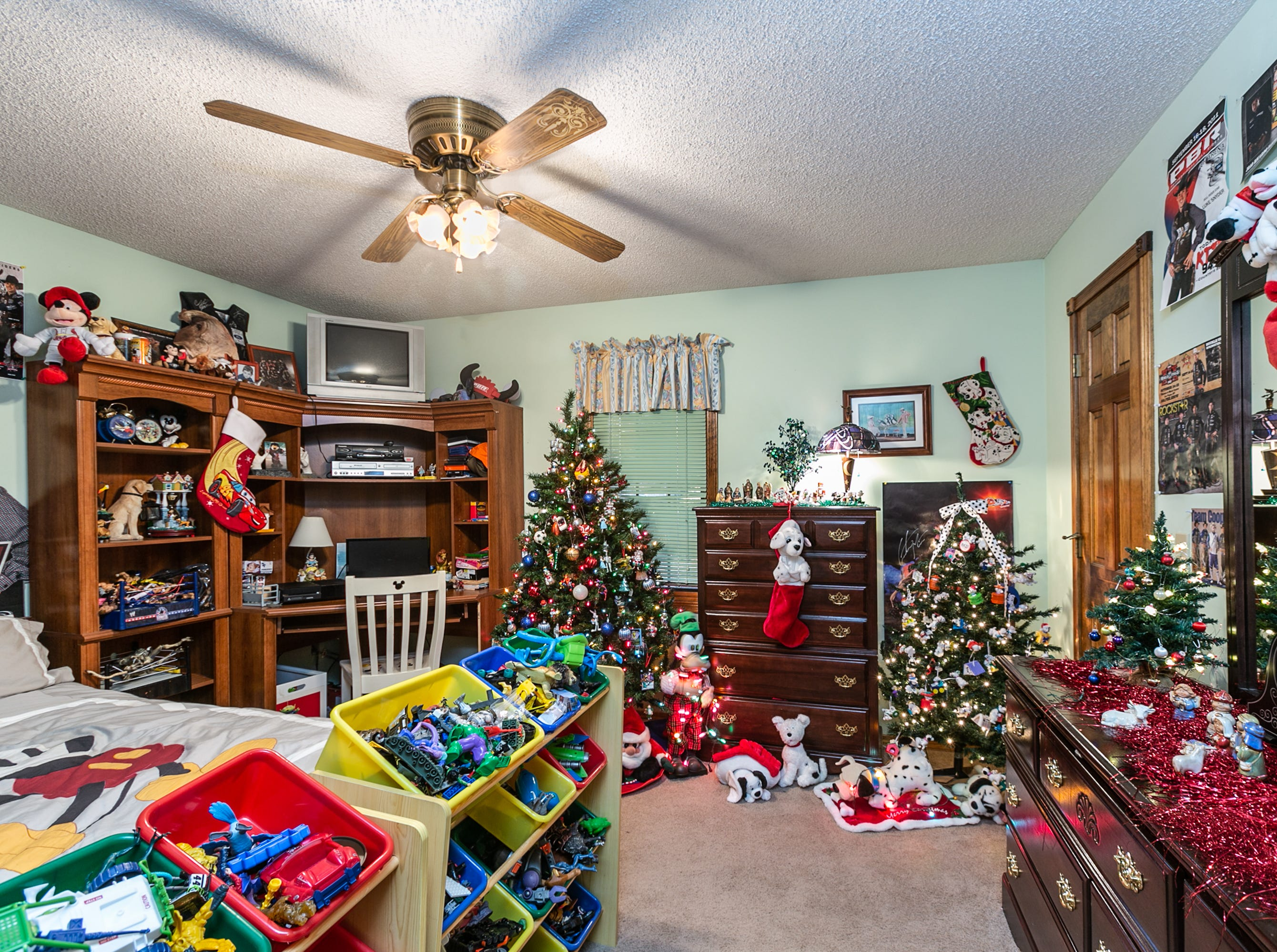 """Donna chose a """"101 Dalmatians"""" theme for the decorations in the room set aside for her grandsons when they spend the night."""