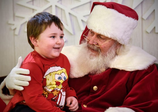 Zander LaFave is excited to share his Chirstmas wish list with Santa Thursday, Nov. 29, at Crossroads Center in St. Cloud.