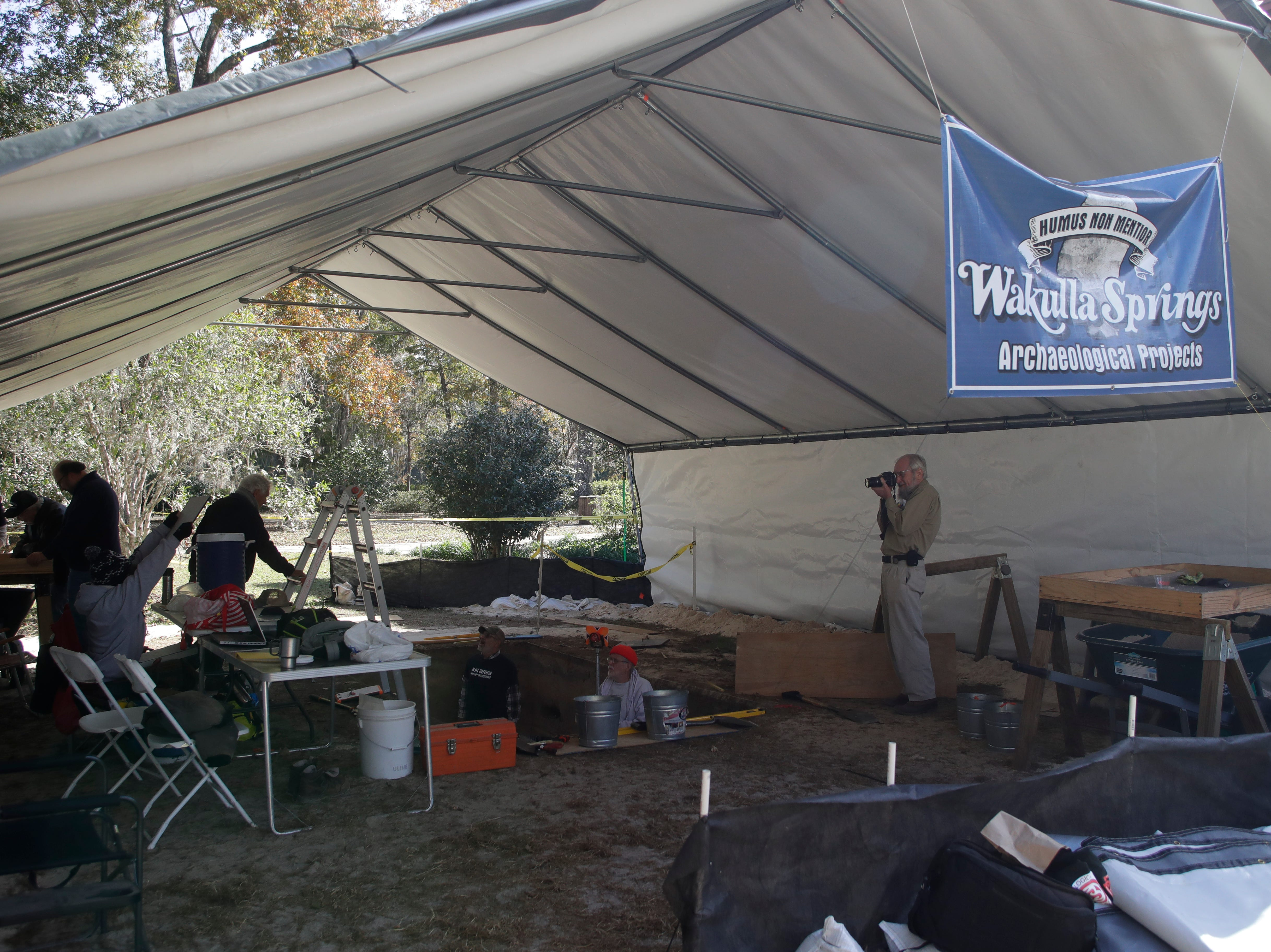 The Aucilla Research Institute is conducting an archaeological dig at Wakulla Springs State Park.