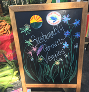 Shopping locally for sustainably sourced food