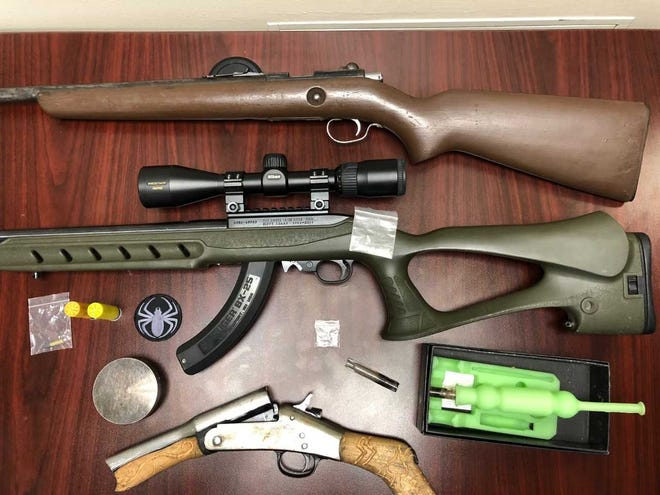 Items LCSO obtained after searching a car after its driver was pulled over for a non-moving traffic violation.