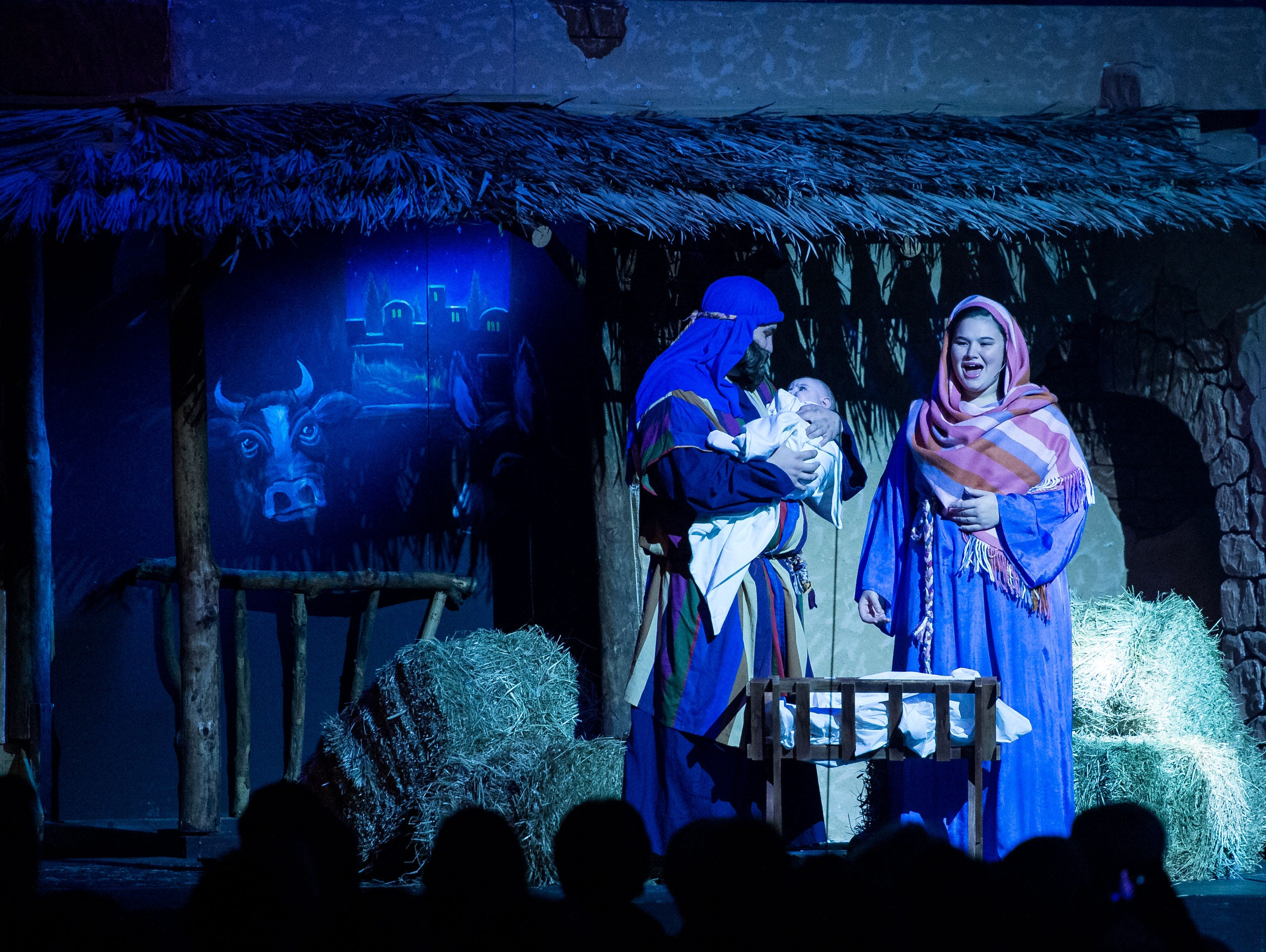 "Hobe Sound Ministries' 22nd annual Christmas program, ""Jesus, What a Beautiful Name,"" featuring the Singing Christmas Tree, is performed opening night Nov. 29, 2018, at the Hobe Sound Bible College and Church in Hobe Sound. The program runs nightly at 7 p.m. through Dec. 2."