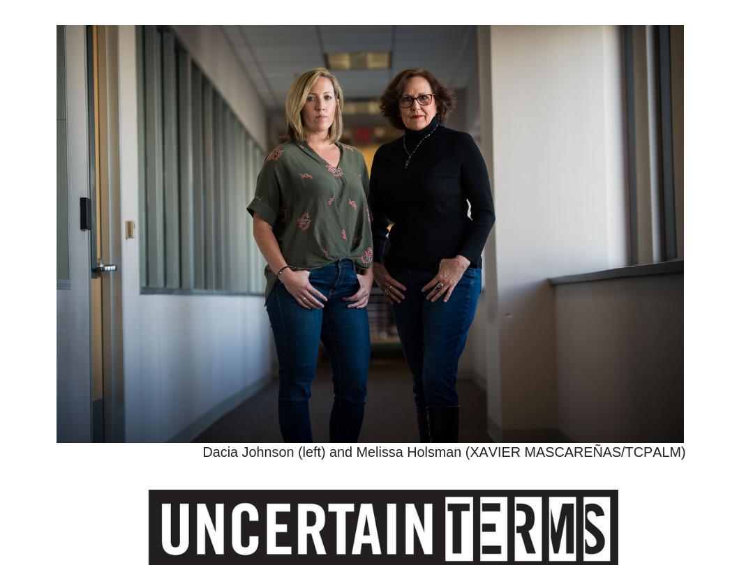 Uncertain Terms podcast | Meet hosts Melissa E. Holsman and Dacia Johnson