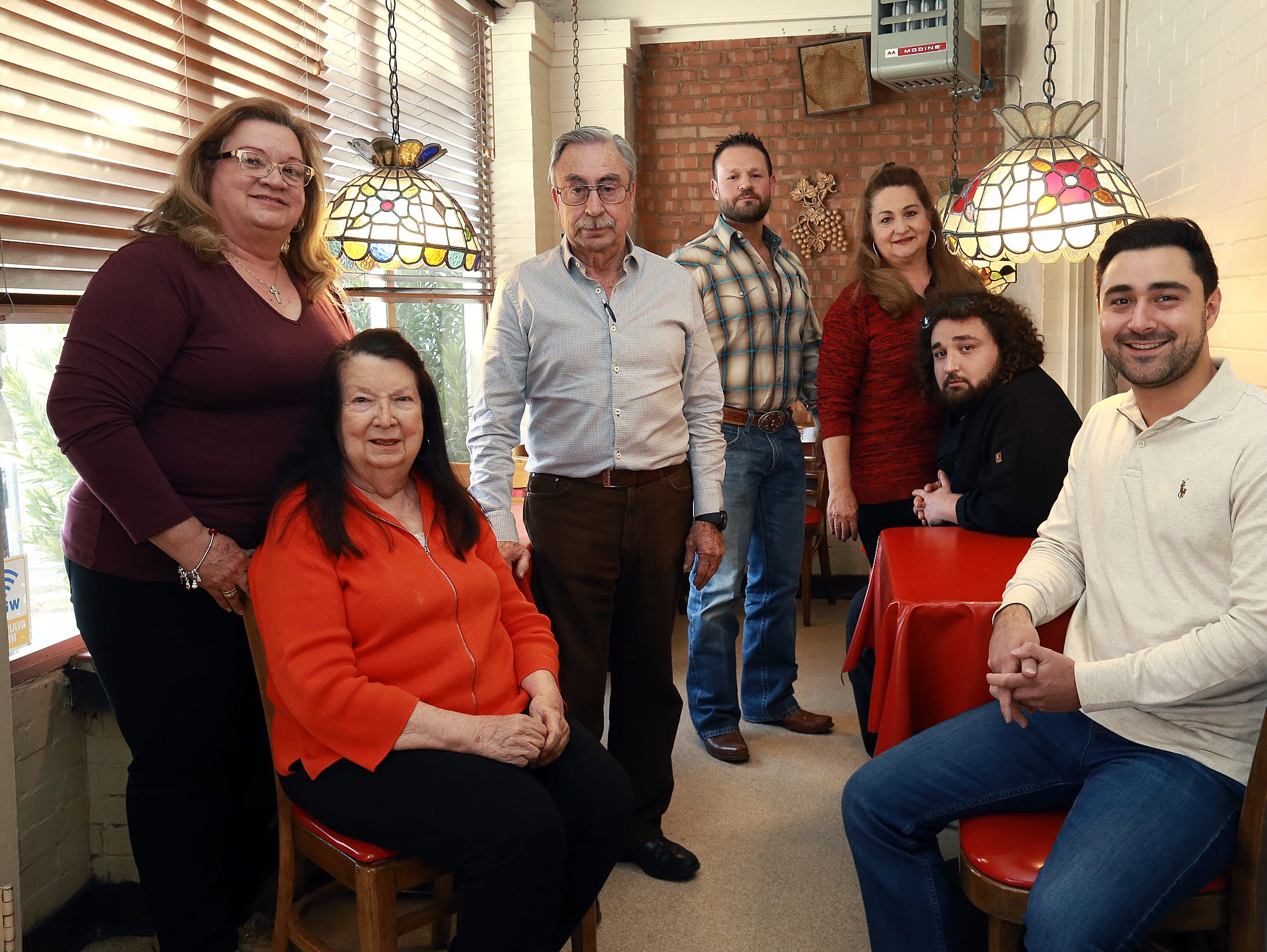 The Italian Kitchen family, from left to right, Gina Maranto-Castro, founder Rita Rodriguez, Marco Antonio Rodriguez, Santiago Alonso III, Roseann Maranto-Alonso, Andres Alonso and Marco Antonio Alonso.