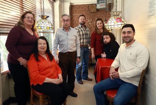 The Italian Kitchen family, from left to right, Gina Maranto-Castro, founder Rita Rodriguez, Marco Antonio Rodriguez, Santiago Alonso III, Roseann Maranto-Alonso, Andres Alonso and Marco Antonio Alonso.