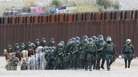 The U.S. Border Patrol held a Mobile Field Force Training Exercise Friday in Anapra in Sunland Park, New Mexico. The Border Patrol is preparing for large numbers of migrants from Central America who have already had clashes with law enforcement in the Tijuana area.