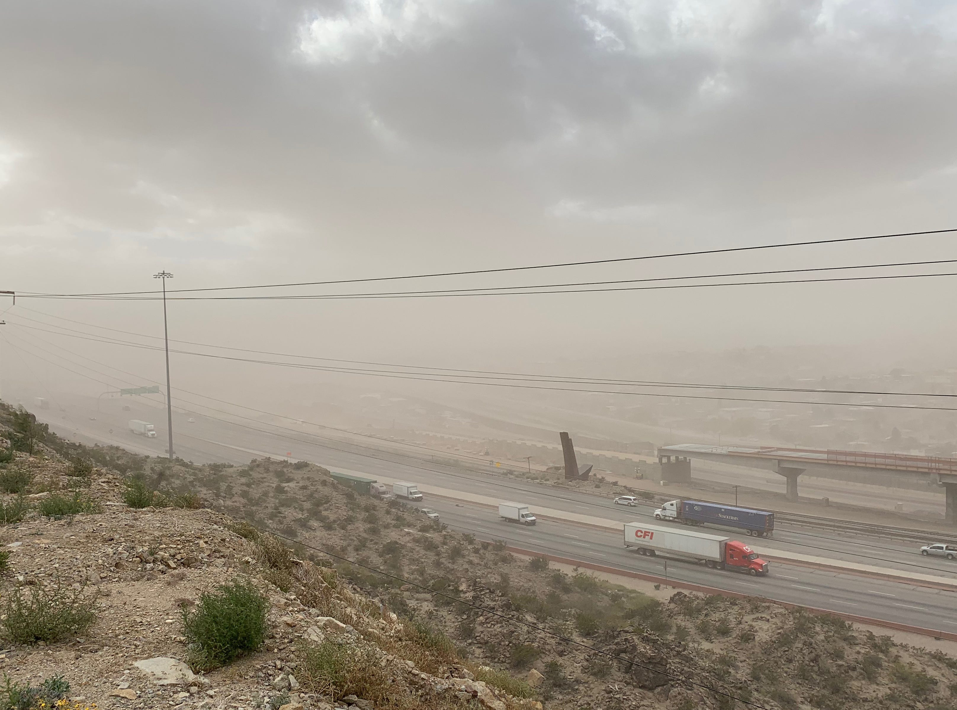 El Pasoans were greeted by colder temperatures Friday morning in the low fifties, along with winds that will increase in speed throughout the day mixed with light rain. Due to the high winds and dust El Paso's air quality has been graded unhealthy for sensitive groups.