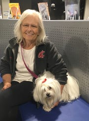 Sandie Moore and her dog for a time lived in a car after the Thomas Fire. The fire didn't impact her rental home, but the owner sold the house after the fire, leaving her without a place to stay.