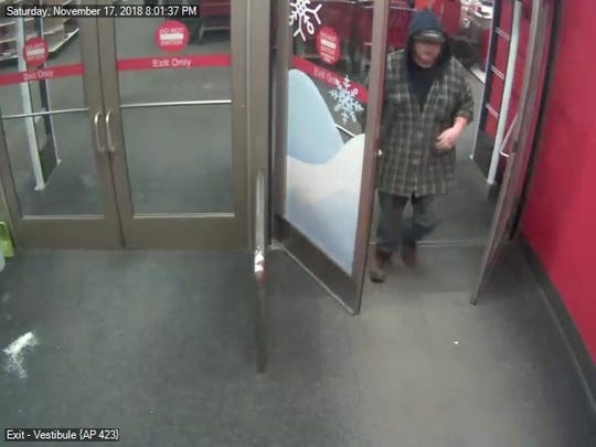 A man is accused of exposing himself to a minor at Target in Weston on Nov. 17, and police want to speak with a man seen in surveillance footage.