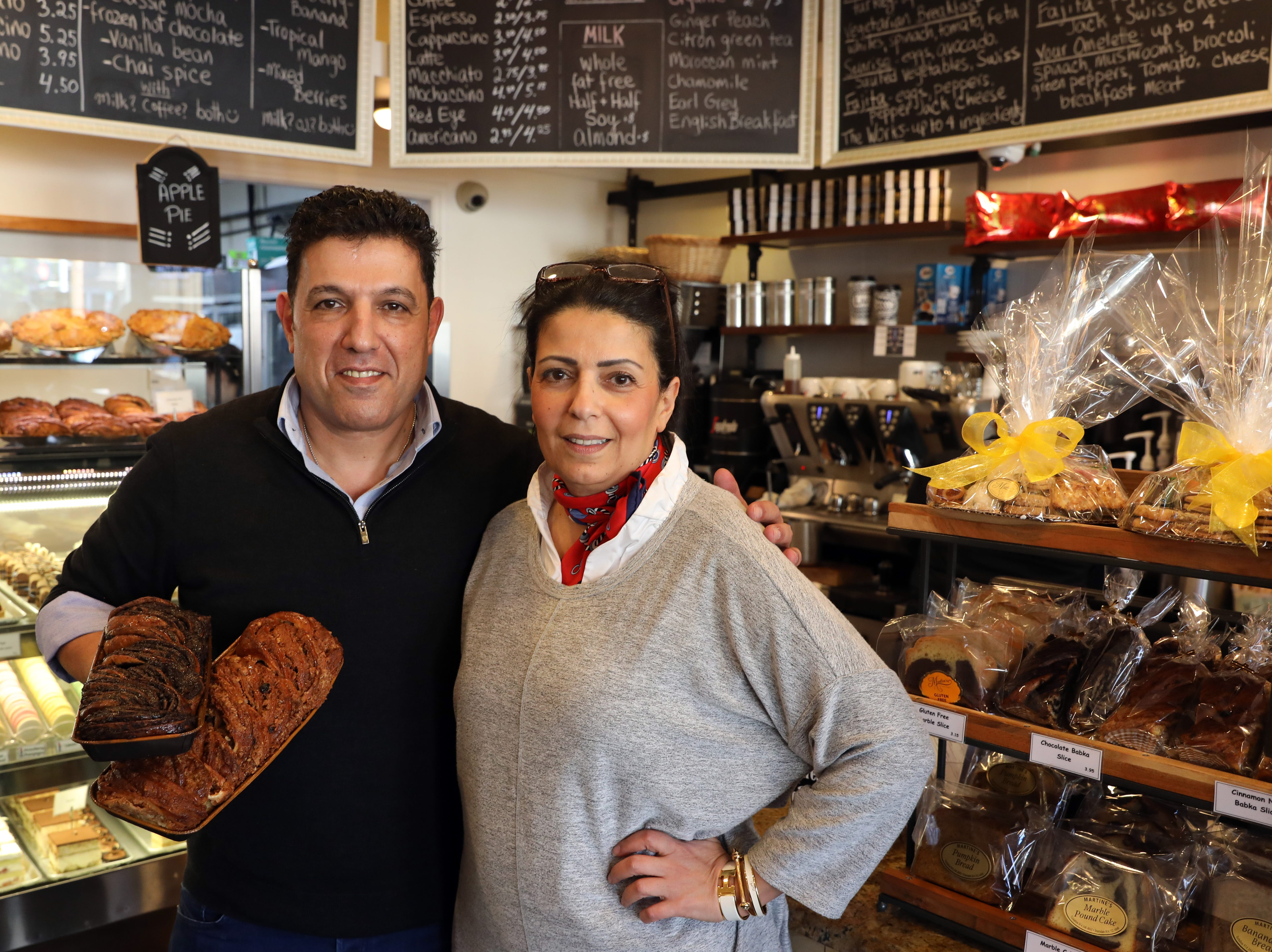 Yuval Golan, and his sister, Tal Campana, co-owners of Martine's Fine Bake Shoppe, at the Tuckahoe location Nov. 29, 2018. The family bakery, which has a second location in Scarsdale, is celebrating their 10th anniversary in business.