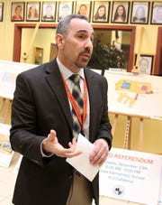 James Kaishian, superintendent of the Briarcliff Manor school district,  talks about  the district's proposed $34 million bond at the high school on Nov. 30.