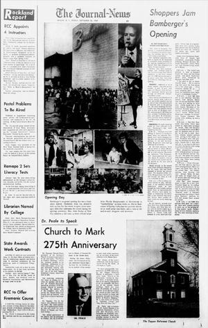 A page from The Journal-News from the Bamberger's in Nanuet opening, in September 25, 1969.