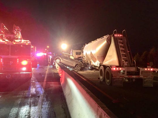 A fatal crash involving a tractor trailer shuts both directions of Del. 1 early Friday.