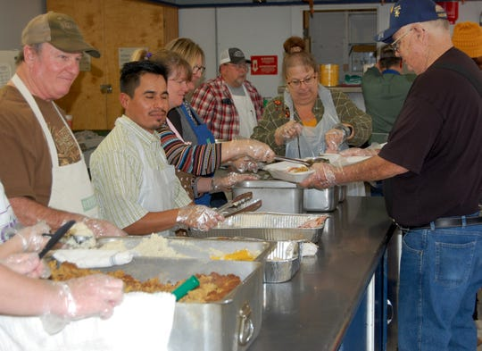 Hundreds of volunteers helped make the thirty-second annual Thanksgiving Holiday Spirit Meal a success by filling plates and delivering meals to shut ins and others unable to attend the meal held at Wilbarger Memorial Auditorium in Vernon. Some 570 meals were delivered.