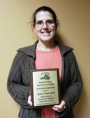 On Nov. 28, Ashley Vanden Bush was presented with the Wisconsin Ag in the Classroom Program's Outstanding Teacher Award.