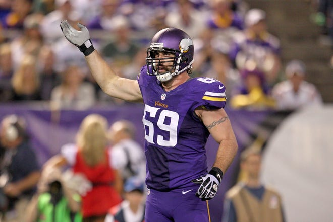 Defensive end Jared Allen made the Pro Bowl five times in his 12 NFL seasons with the Minnesota Vikings, Kansas City Chiefs, Chicago Bears and Carolina Panthers.