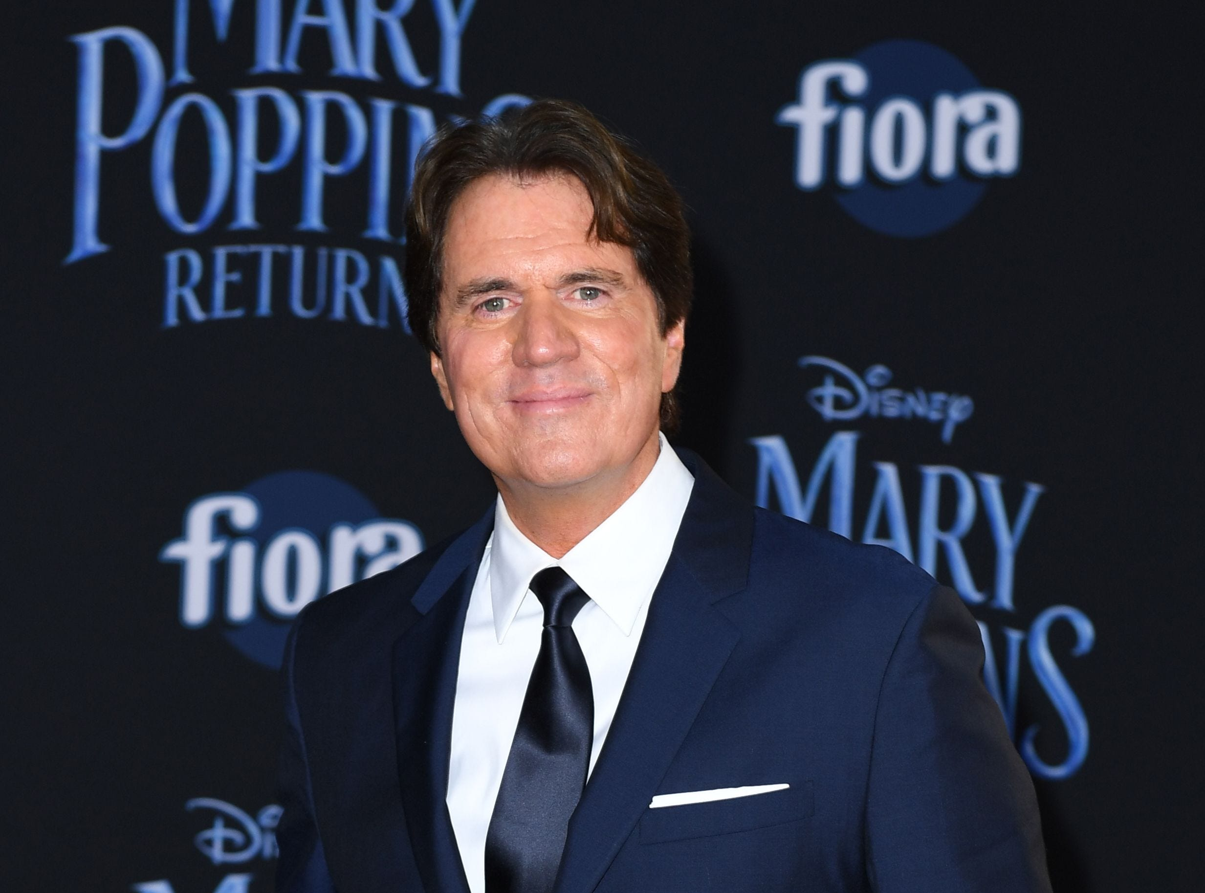 """US director/producer Rob Marshall arrives for the world premiere of Disney's """"Mary Poppins Returns"""" at the Dolby theatre in Hollywood on November 29, 2018. (Photo by VALERIE MACON / AFP)VALERIE MACON/AFP/Getty Images ORG XMIT: 'Mary Pop ORIG FILE ID: AFP_1B8142"""