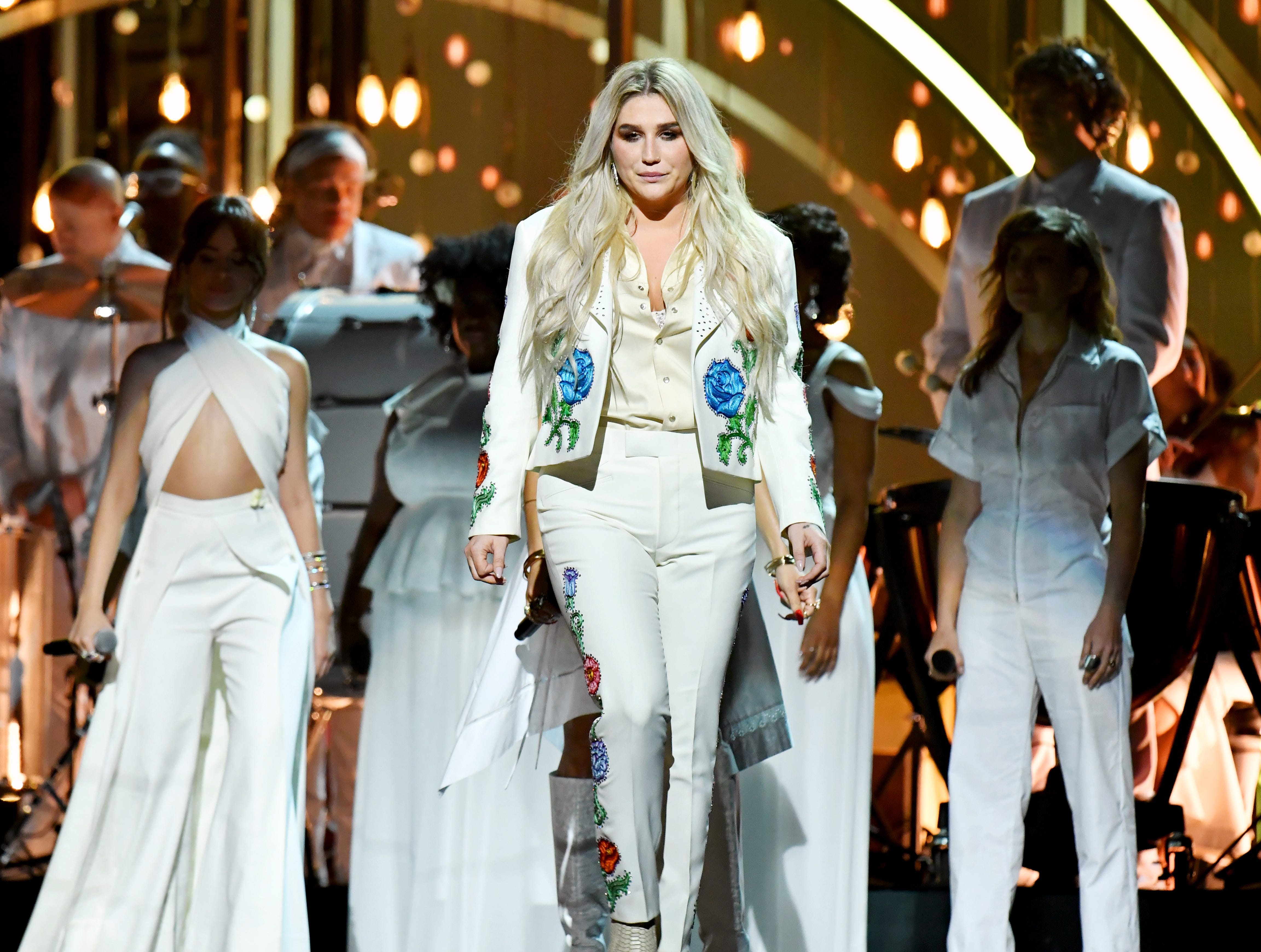 Jan. 28: Kesha gives a powerful performance onstage at the Grammys.