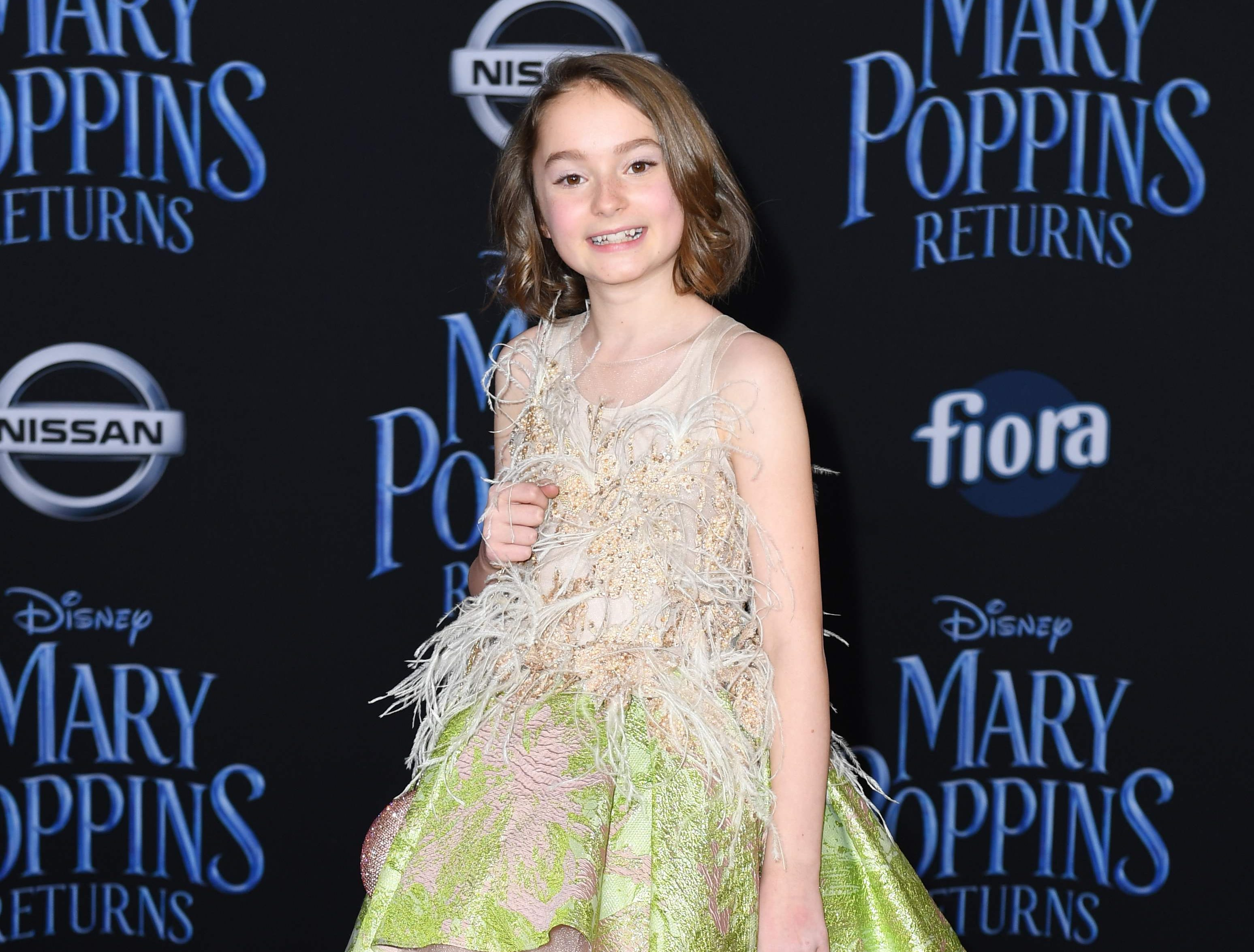 """British actress Pixie Davies arrives for the world premiere of Disney's """"Mary Poppins Returns"""" at the Dolby theatre in Hollywood on November 29, 2018. (Photo by VALERIE MACON / AFP)VALERIE MACON/AFP/Getty Images ORG XMIT: 'Mary Pop ORIG FILE ID: AFP_1B810L"""