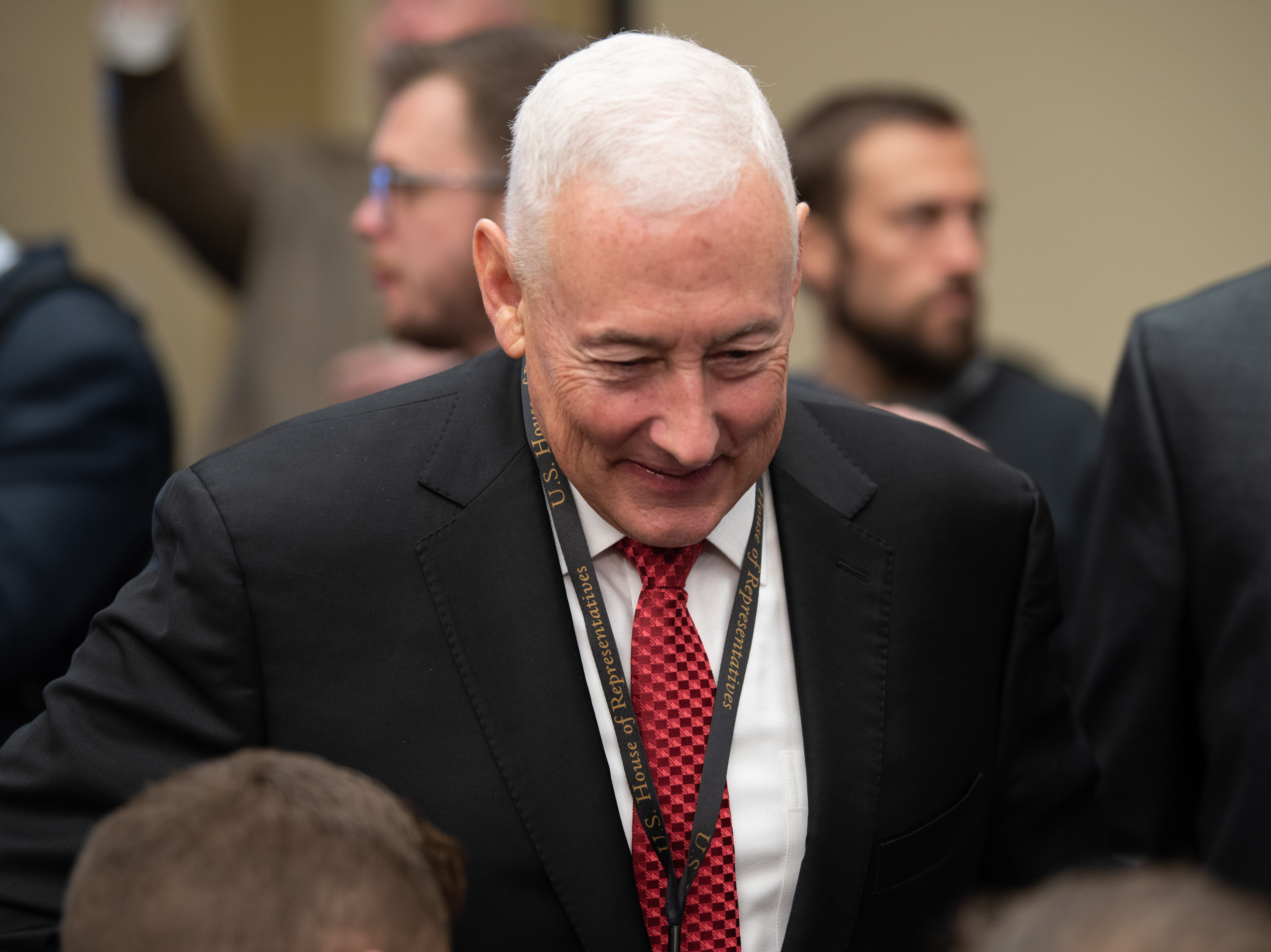 {Nov. 30, 2018} {10:30 a.m.} -- Washington, DC  -- Rep. Elect Greg Pence (R, IN) attends the lottery that determines the order in which new members of Congress will select their offices. -- Photo by Hannah Gaber, USA TODAY Staff