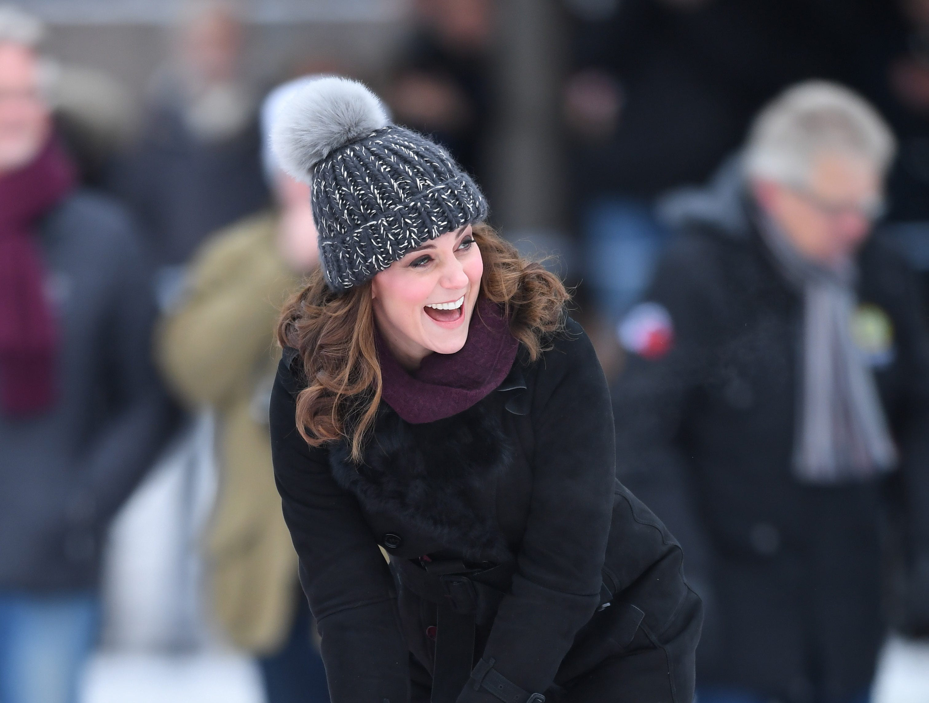 Jan. 30: Duchess Kate gets sporty while visiting Stockholm, Sweden.