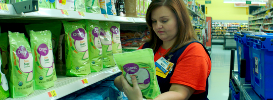 Walmart's technology picks the most efficient path for personal shoppers.