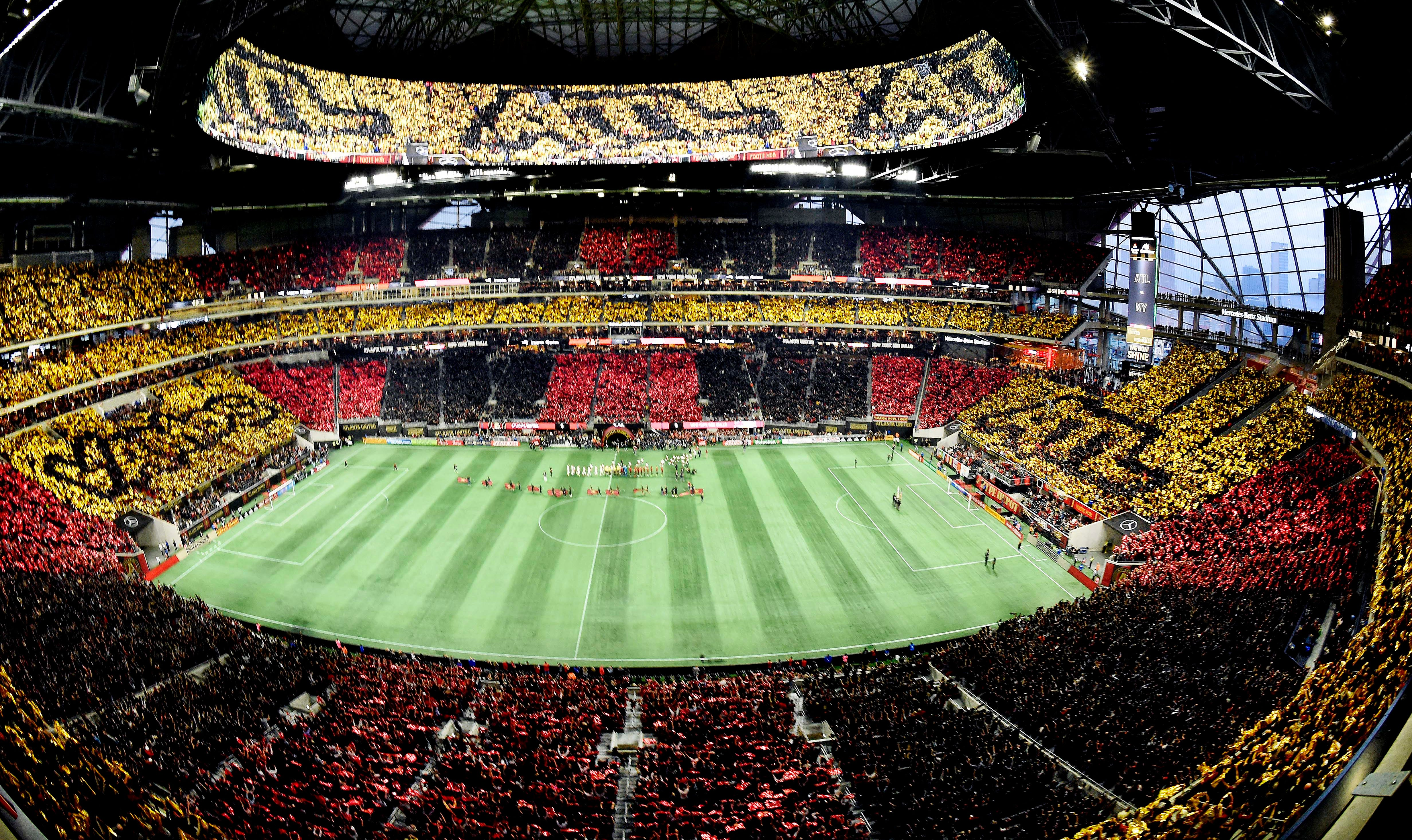 Atlanta United fans have filled Mercedes-Benz Stadium at a record rate.