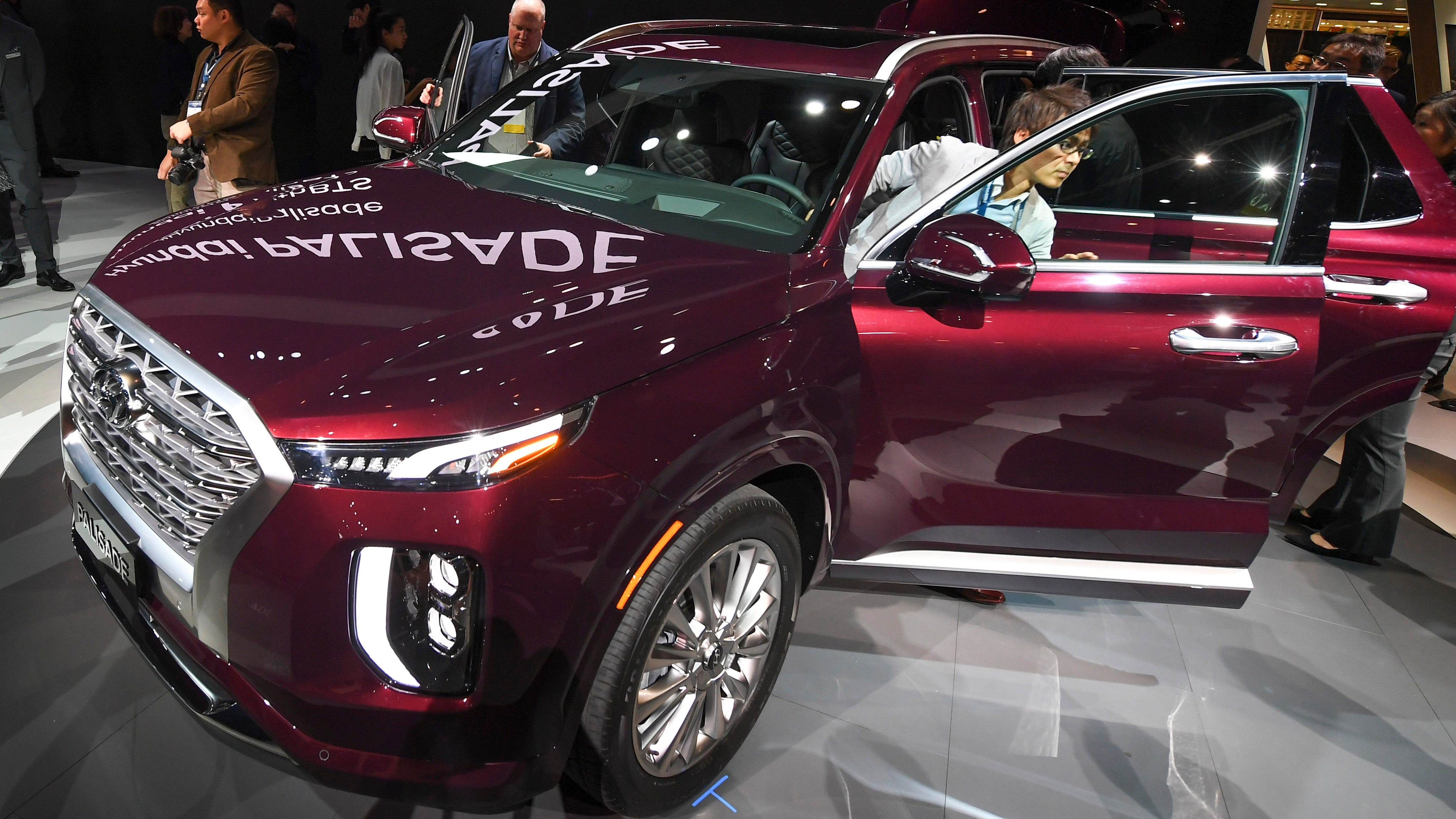 The Hyundai Palisade was unveiled during press preview day at Los Angeles Auto Show on Nov 28, 2018.
