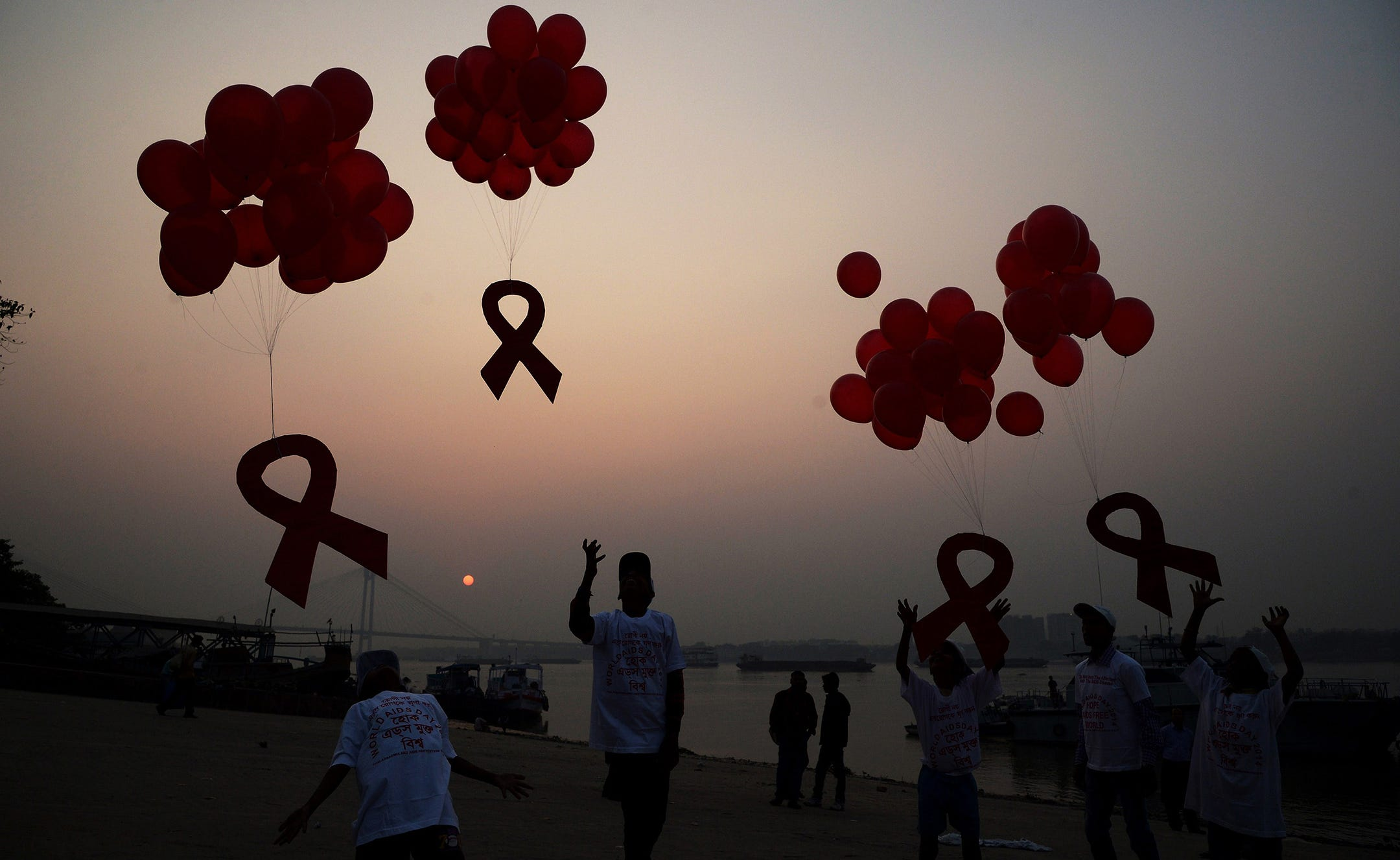 Image result for aids day touching images