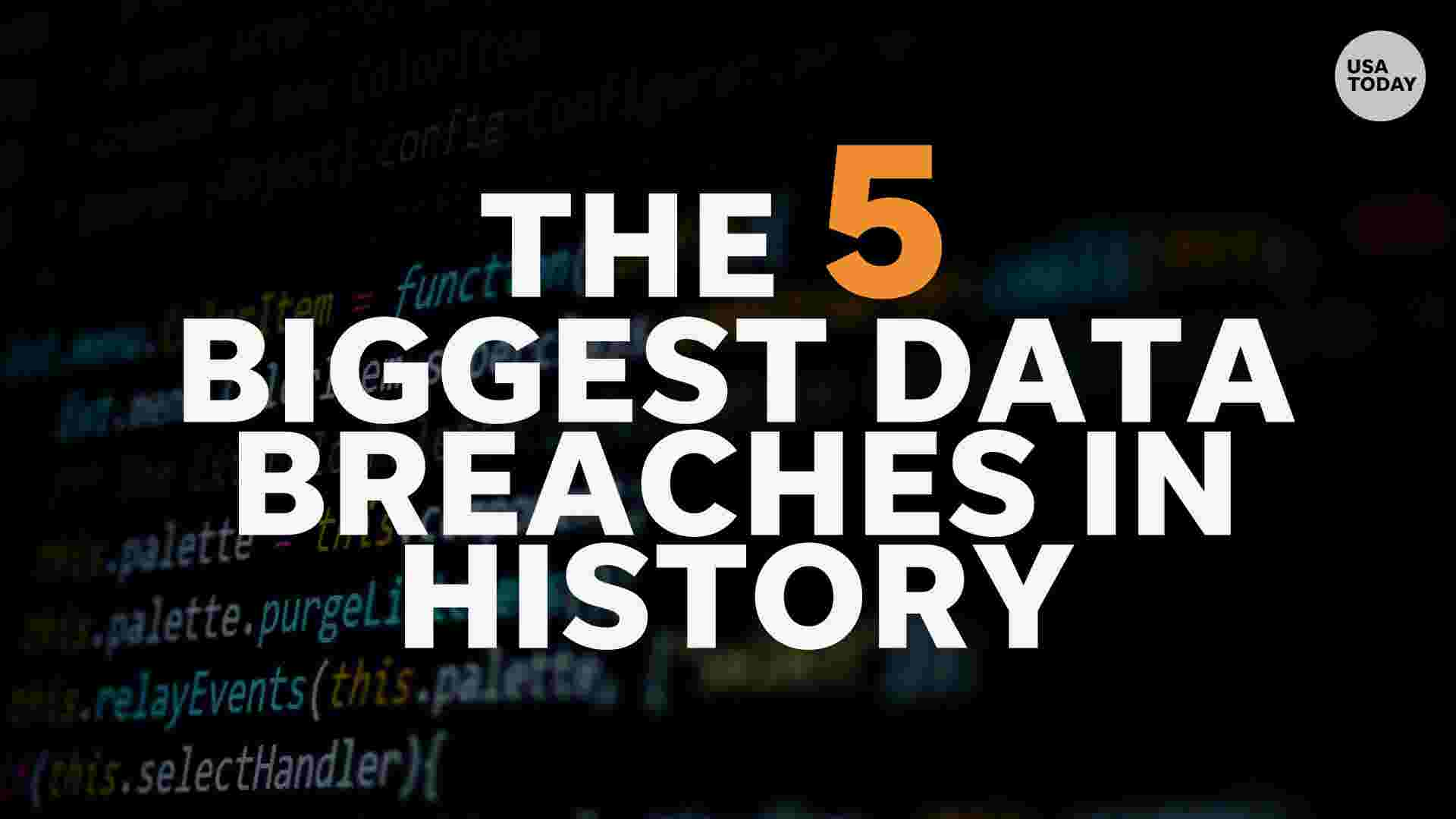 These are the 5 biggest data breaches in history