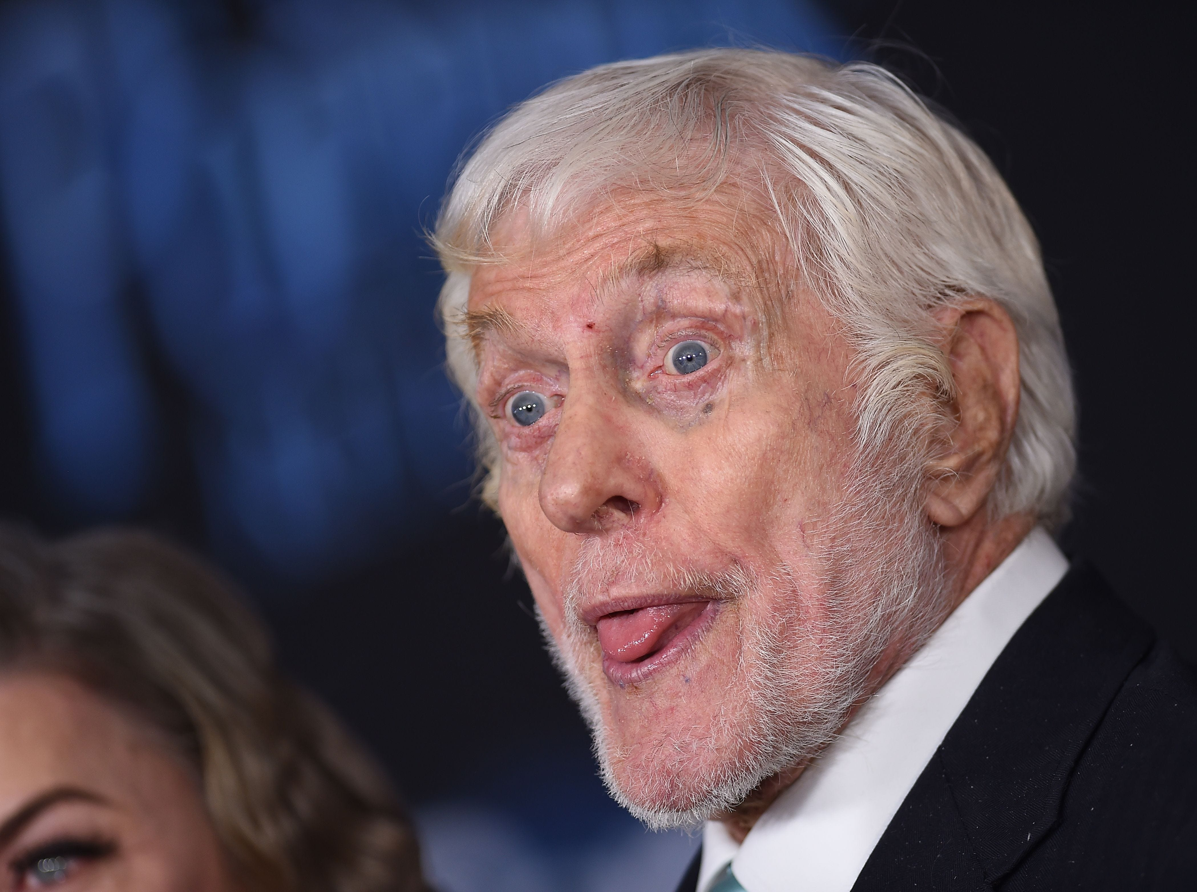 """US actor Dick Van Dyke arrives for the world premiere of Disney's """"Mary Poppins Returns"""" at the Dolby theatre in Hollywood on November 29, 2018. (Photo by VALERIE MACON / AFP)VALERIE MACON/AFP/Getty Images ORG XMIT: 'Mary Pop ORIG FILE ID: AFP_1B81LA"""