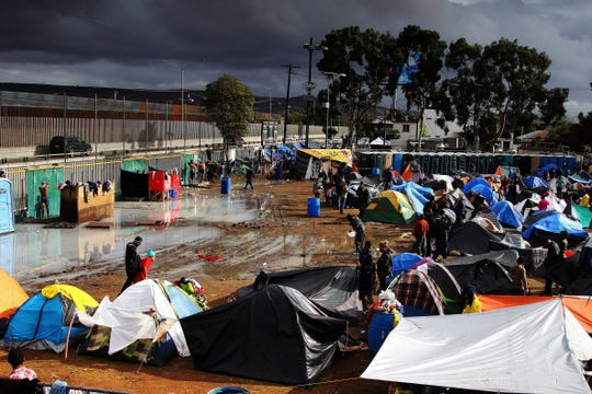Asylum seekers in a shelter in the border city of Tijuana, Mexico.