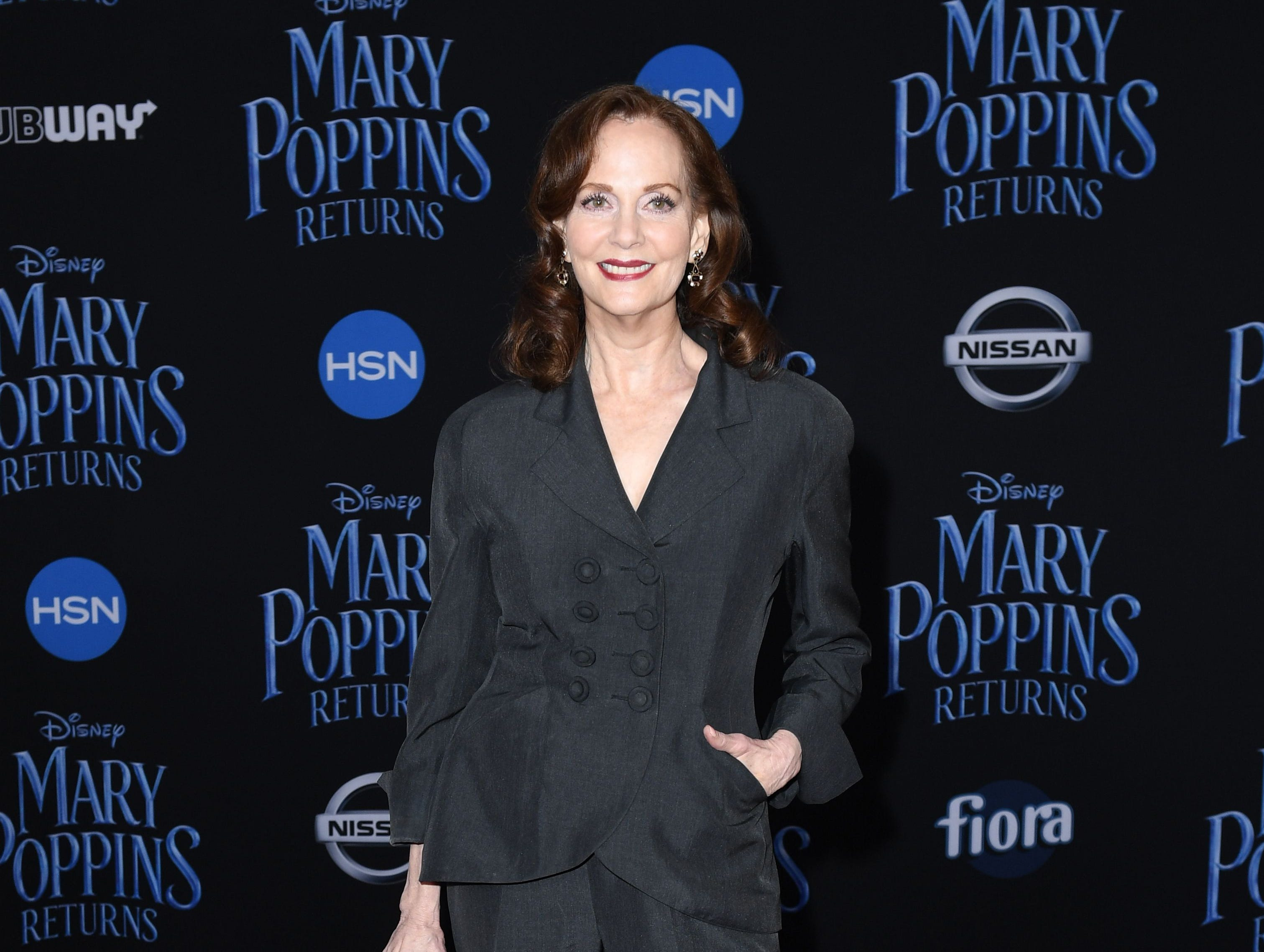 """US actress Lesley Ann Warren arrives for the world premiere of Disney's """"Mary Poppins Returns"""" at the Dolby theatre in Hollywood on November 29, 2018. (Photo by VALERIE MACON / AFP)VALERIE MACON/AFP/Getty Images ORG XMIT: 'Mary Pop ORIG FILE ID: AFP_1B81NJ"""
