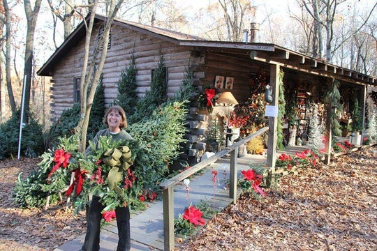 Yule Log Cabin located in Scott County Missouri has thoursands of unique Christmas ornaments, stockings, tree skirts, and decorative items along with live Christmas trees and wreaths.