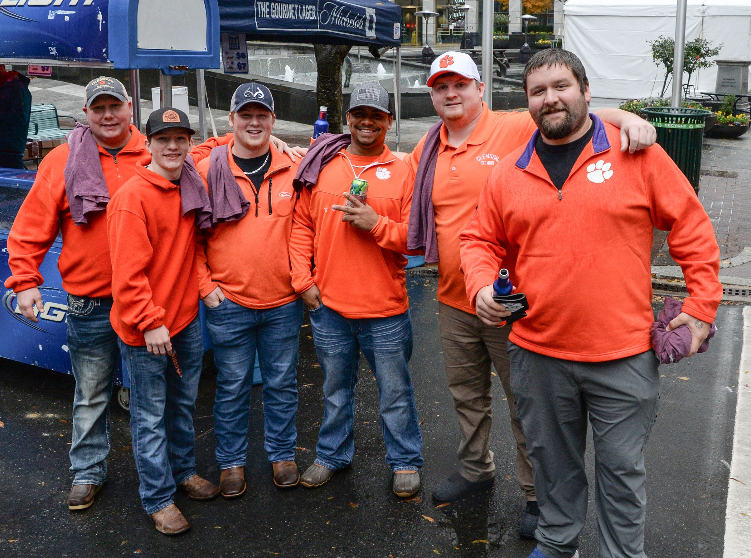 Clemson fans at the ACC Fan Fest in downtown Charlotte on Saturday, December 1, 2018.