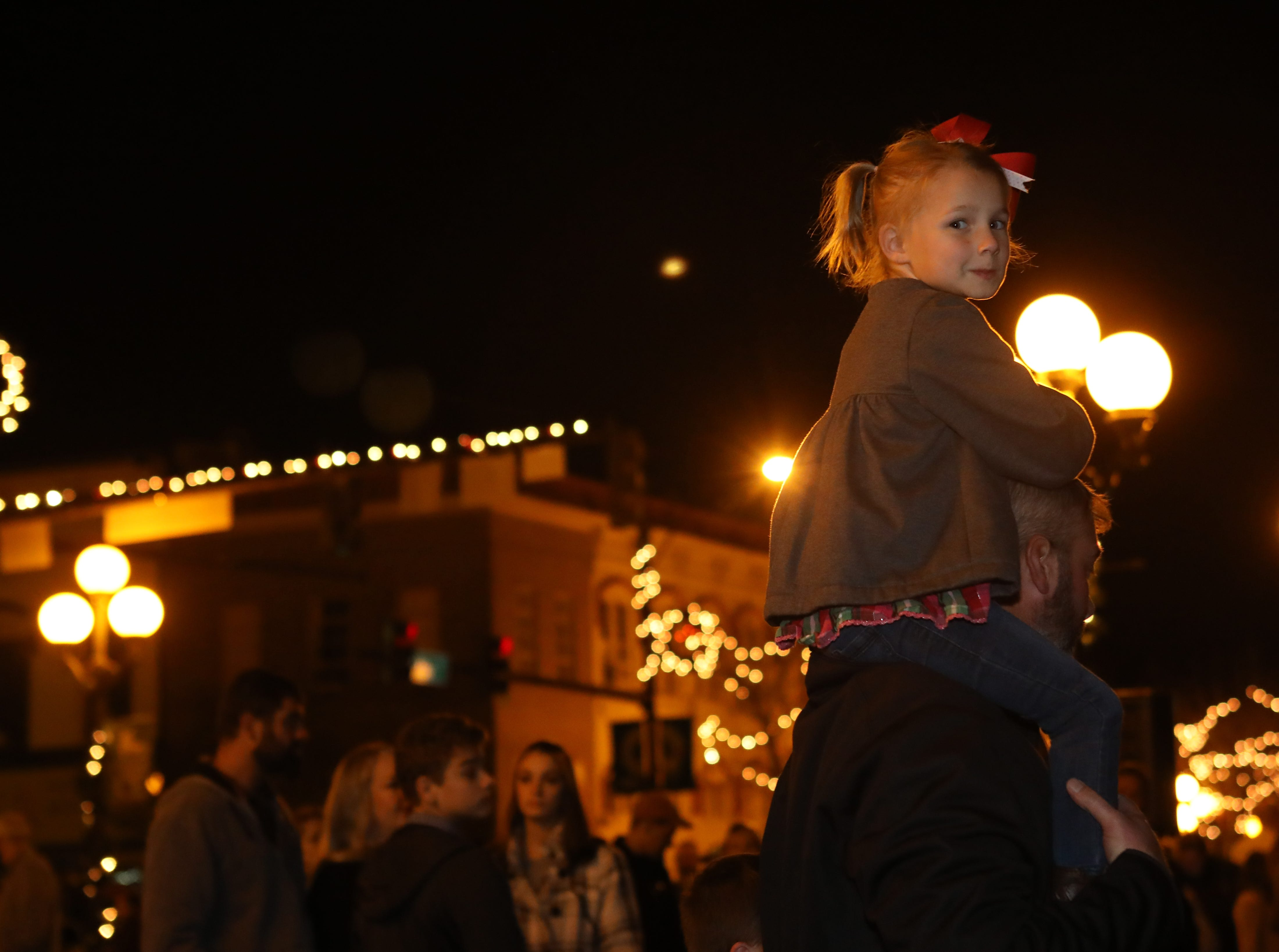 Piedmont Natural Gas Holiday Walk and Christmas Tree Lighting in downtown Anderson