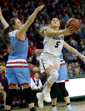 Niki Van Wyk (5) is one of the top players returning for the two-time defending state championship Appleton North girls basketball team this season. Dan Powers/USA TODAY NETWORK-Wisconsin