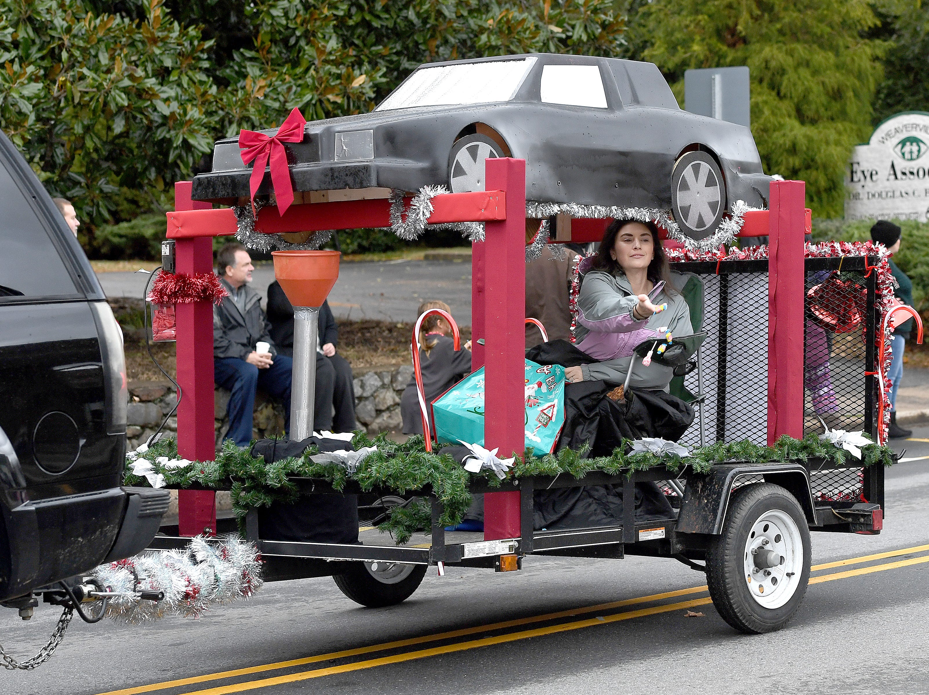 Local businesses, agencies and clubs walked in the 2018 Weaverville Christmas Parade on Dec. 1, 2018.