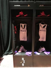 Here are the Nike singlets and running spikes CVU will wear during the race.