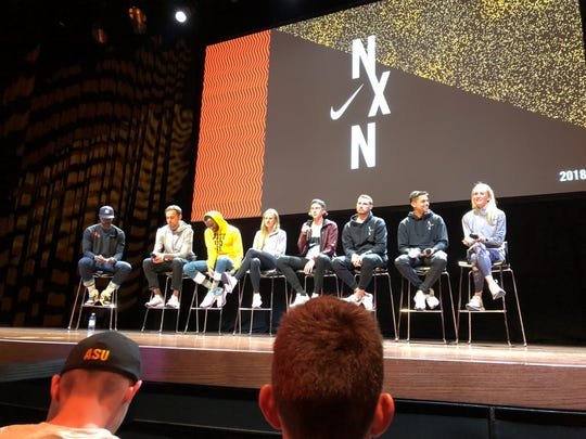 The CVU girls cross-country team attended a Q/A session with some of Nike's top professional runners.
