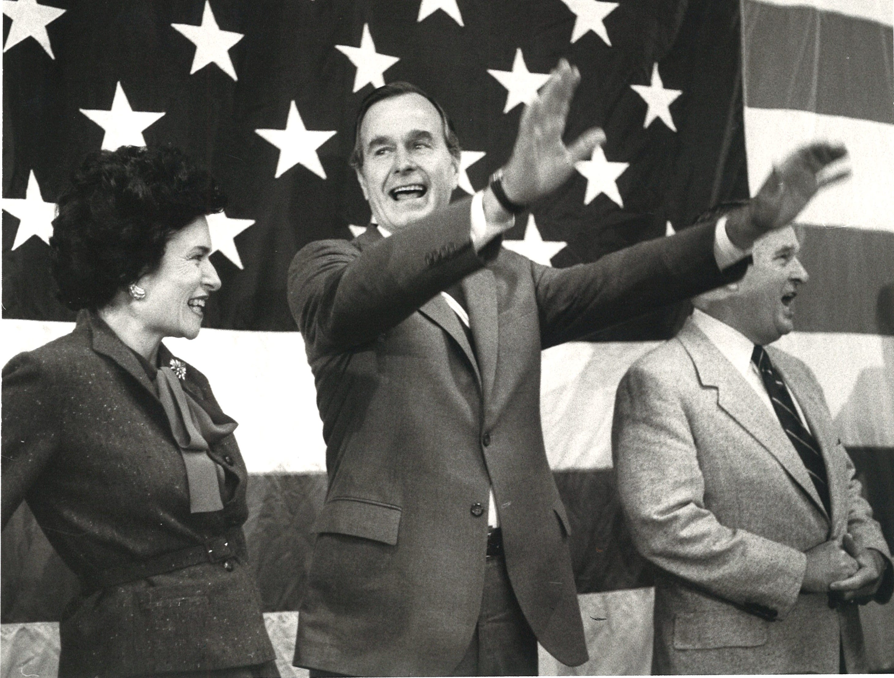 George Bush in Corpus Christi, 1980.