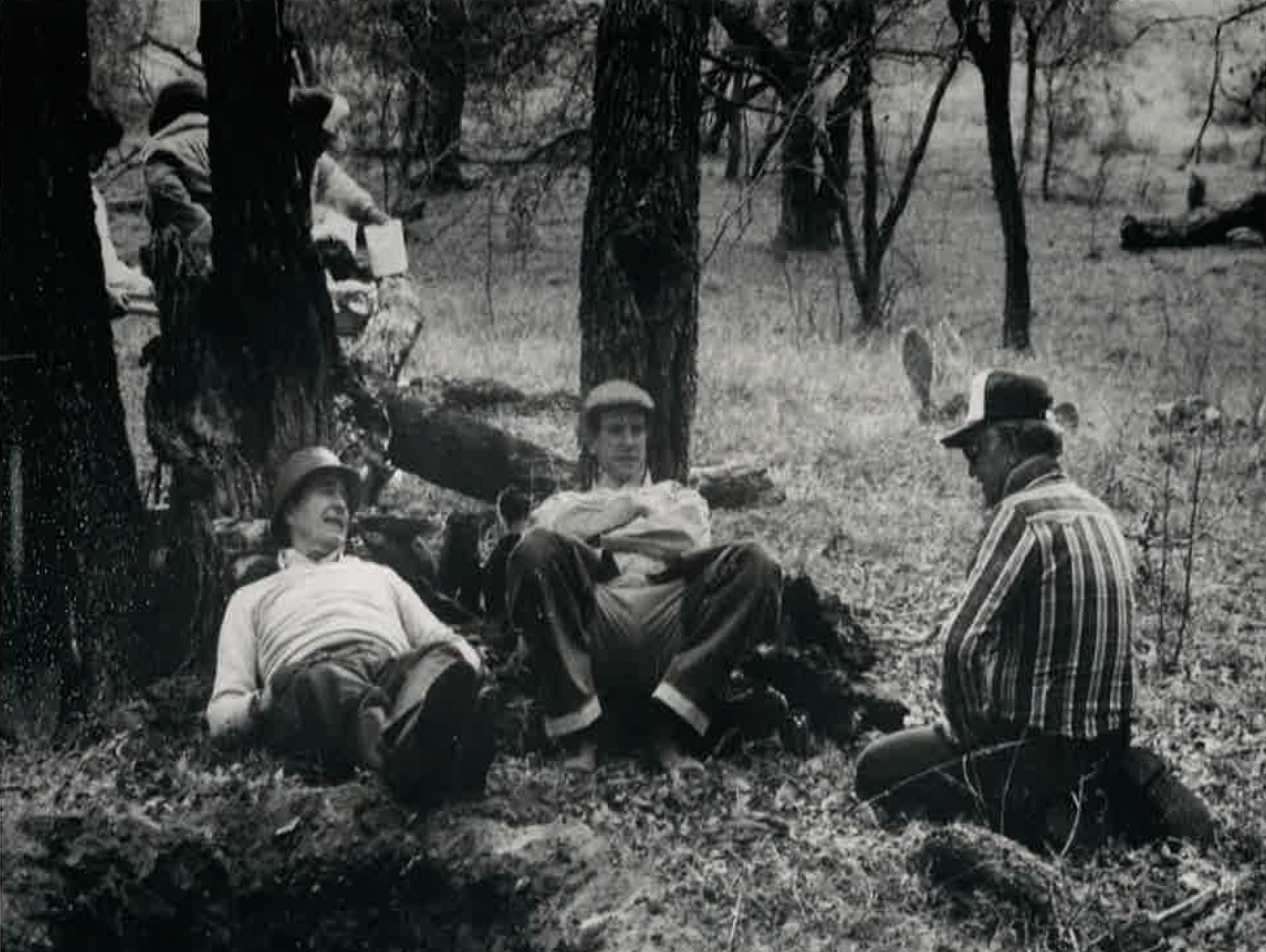 George H.W. Bush (from left), Will Farish and Bill Weeks rest during a quail hunt at the Lazy F Ranch in this undated photo from Bill Weeks' personal collection.