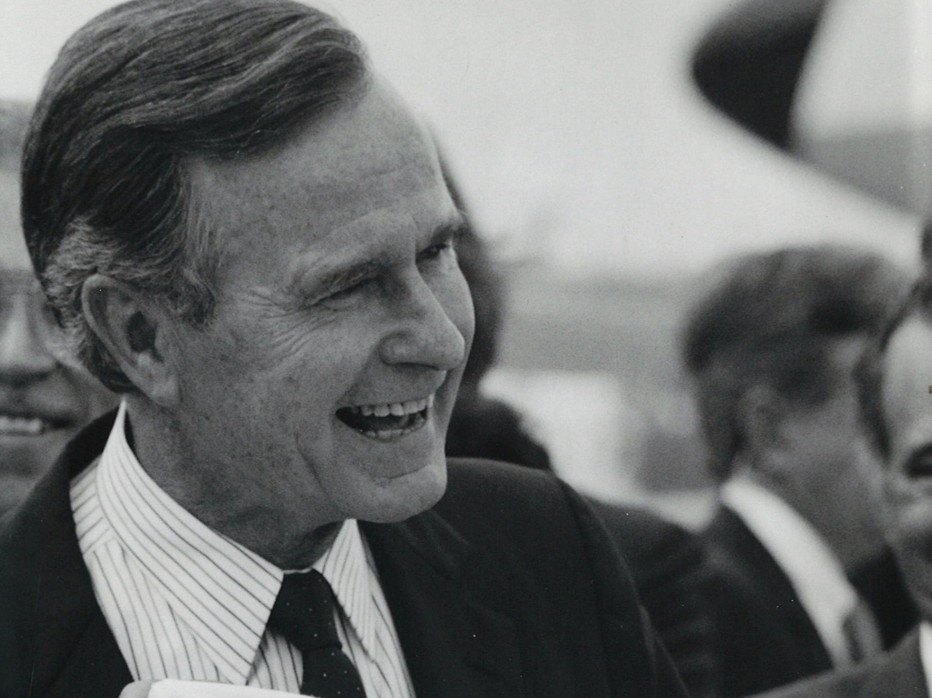 George H.W. Bush in Corpus Christi on Aug. 7, 1988.