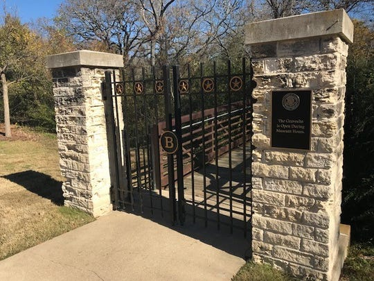 The Bush family grave site near the presidential library in College Station, Texas.