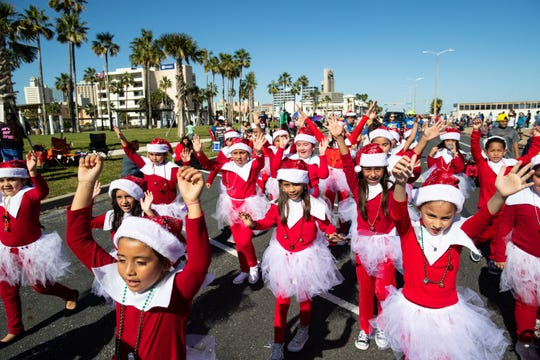 The 37th annual Harbor Lights Festival Children's Parade along North Shoreline Boulevard on Saturday, Dec. 1, 2018.